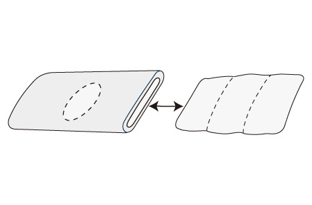 You can adjust pillow height by removing or adding sheets of core.