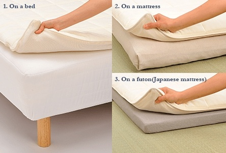Simply place airweave on top of the bed you currently use for a better sleep.※the product shown in the picture is airweave.