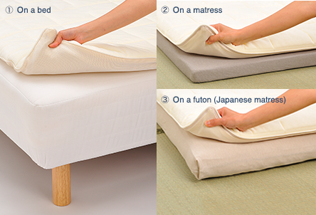 Simply place airweave on top of the bed you currently use for a better sleep