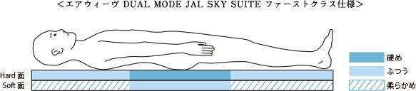 エアウィーヴDUAL MODE JAL SKY SUITE ファーストクラス仕様